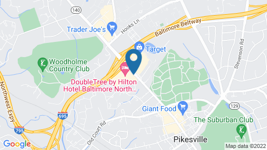 DoubleTree by Hilton Baltimore North/Pikesville Map