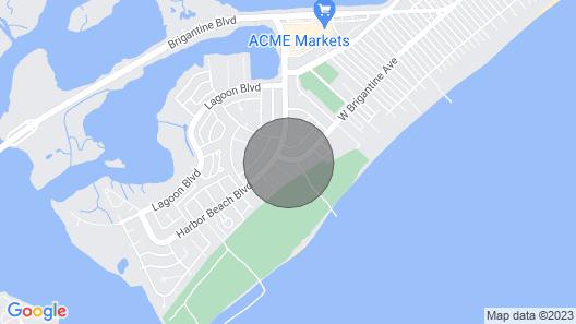 Sandpiper Condominiums at Brigantine, NJ, Oceanfront With Patio & Pool Map