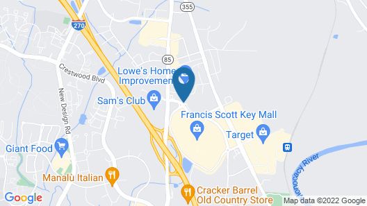 Country Inn & Suites by Radisson, Frederick, MD Map