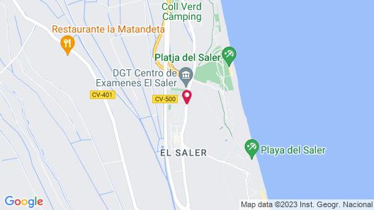 Camping Valencia El Saler Map