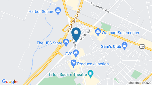 Hampton Inn Egg Harbor Township Atlantic City Map