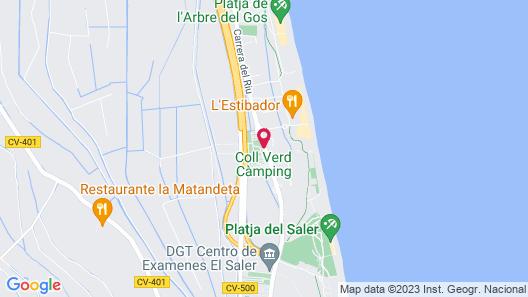 Las Fallas Camping Map