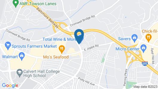Comfort Inn Baltimore East Towson Map