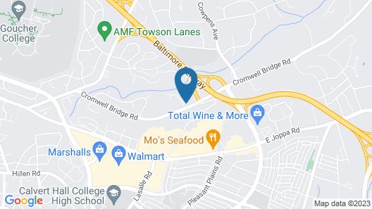 Holiday Inn Express Towson - Baltimore North, an IHG Hotel Map