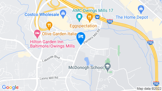 Hyatt Place Baltimore/Owings Mills Map