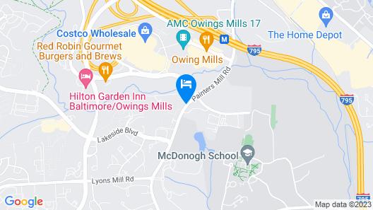 Hyatt Place Baltimore/Owings Mills Map