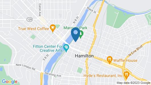 Courtyard by Marriott Hamilton Map