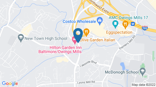 Hilton Garden Inn Owings Mills Map