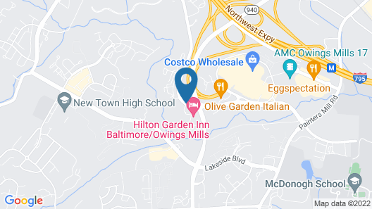 Hampton Inn Baltimore/Owings Mills Map