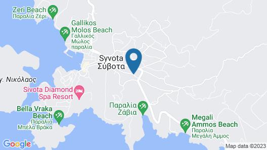 Delphin Rooms Sivota Map