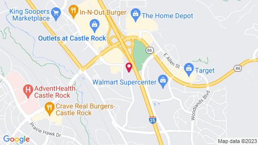 Days Inn & Suites by Wyndham Castle Rock Map