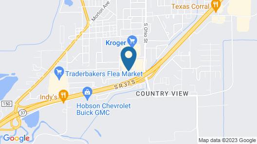 Super 8 by Wyndham Martinsville Map