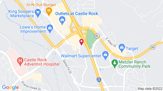 Hampton Inn Castle Rock Map