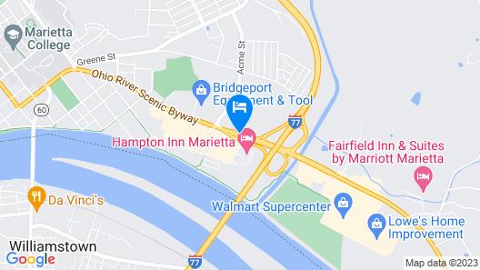 Hampton Inn Marietta Map