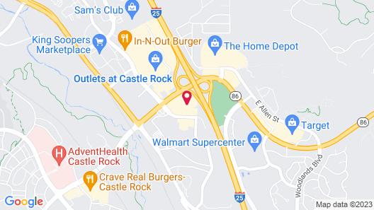 Best Western Plus Castle Rock Map