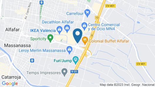 ibis Valencia Alfafar Map