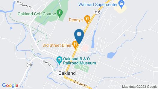 Oakland Motel  Map
