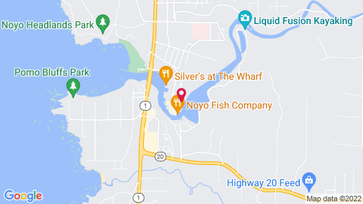 Noyo Harbor Inn Restaurant and Tavern Map