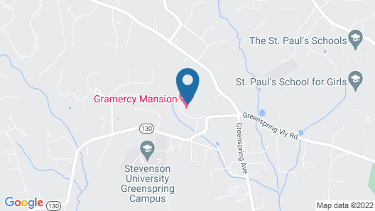 Gramercy Mansion Bed and Breakfast Map