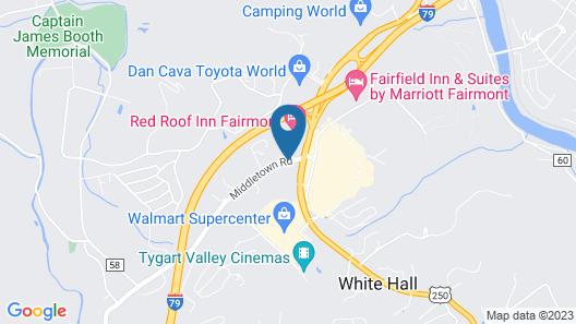 Red Roof Inn Fairmont Map