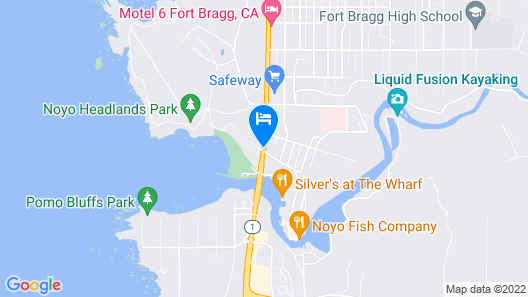 Super 8 by Wyndham Fort Bragg Map