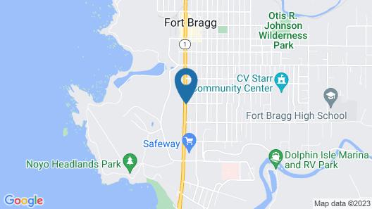 Motel 6 Fort Bragg, CA Map