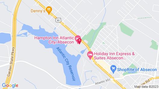 Hampton Inn Atlantic City/Absecon Map