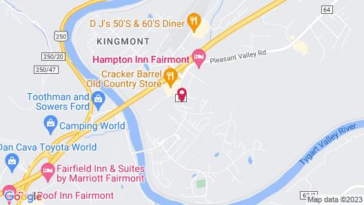 Super 8 by Wyndham Fairmont Map