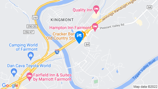 Holiday Inn Express and Suites Fairmont, an IHG Hotel Map