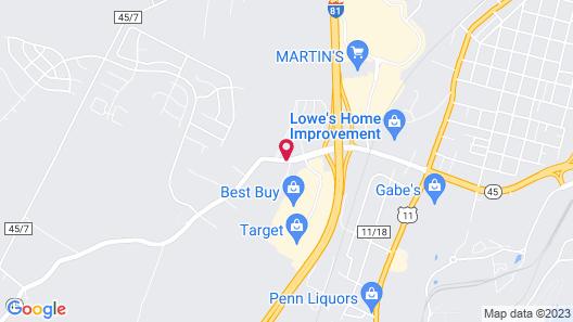 Hilton Garden Inn Martinsburg Map