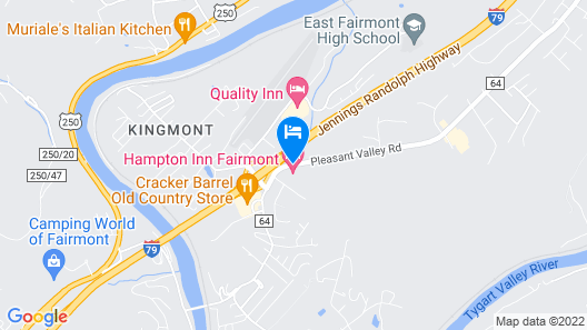 Hampton Inn Fairmont Map