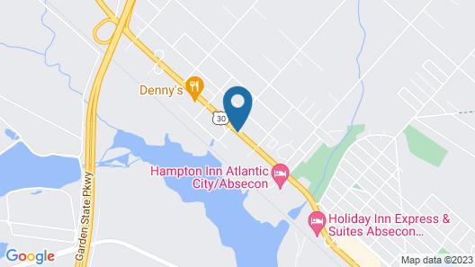 Highlander Motor Inn Atlantic City Map