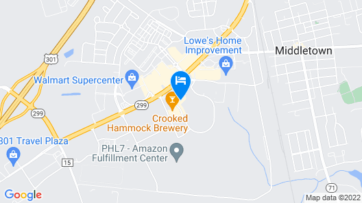 Holiday Inn Express And Suites Middletown, an IHG Hotel Map