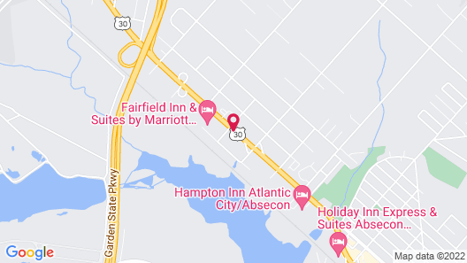 Journeys End Motel Atlantic City / Absecon Map
