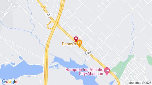 American Star Inn & Suites Atlantic City Map