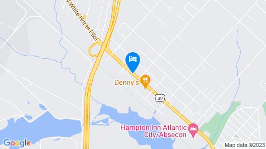 Howard Johnson by Wyndham Galloway Atlantic City Area Map
