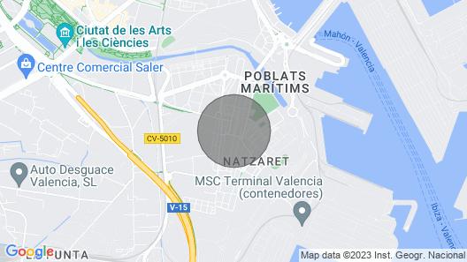 Casa Poblados Marítimos, Marina Beach Map