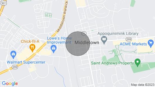 Historic & Quaint Room Downtown Middletown, DE Awaits You! Map