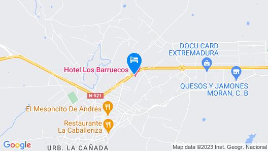 Hotel Los Barruecos Map