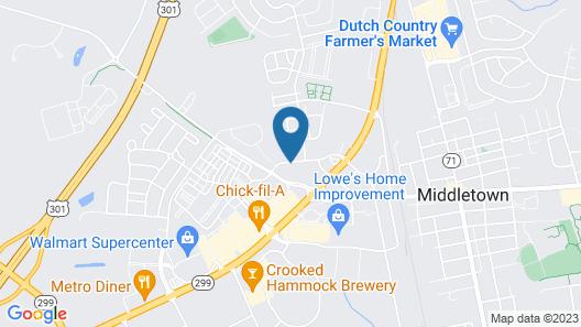 Hampton Inn Middletown Map