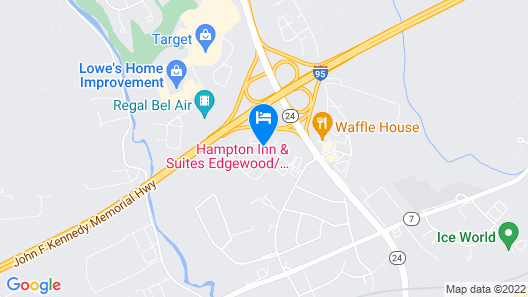 Hampton Inn & Suites Edgewood/Aberdeen-South, MD Map