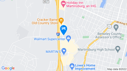 Home2 Suites by Hilton Martinsburg, WV Map