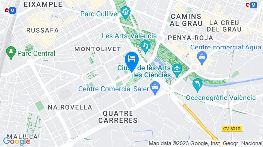 Valenciaflats Ciudad de las Ciencias Map