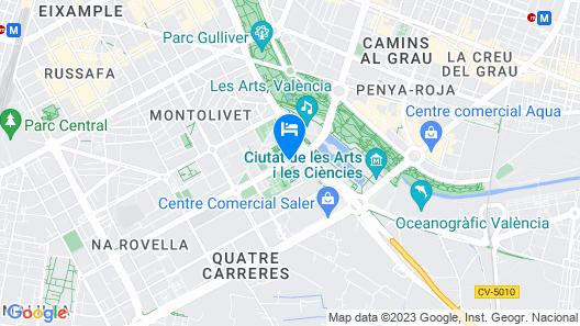 NH Valencia Las Artes Map
