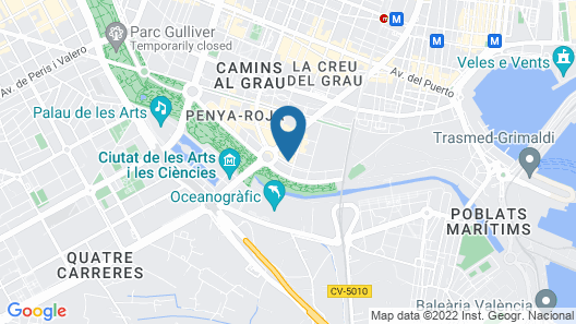 Hotel ILUNION Aqua 3 Map