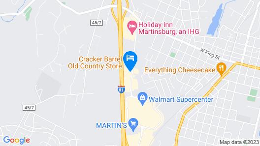 Hampton Inn Martinsburg Map