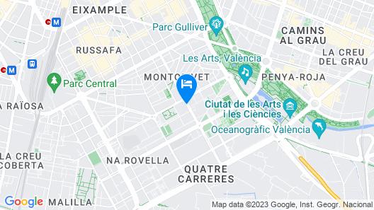 Hotel Medium Valencia Map