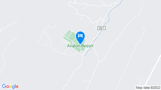 Avalon Resort - Clothing Optional Map