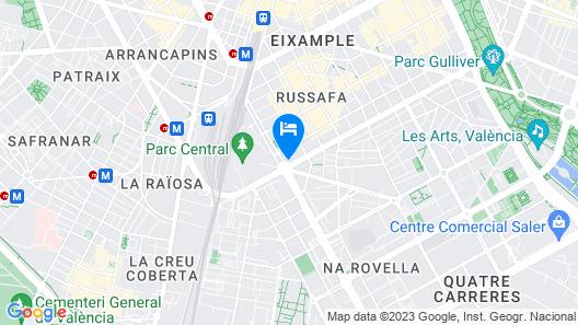 Senator Parque Central Hotel Map