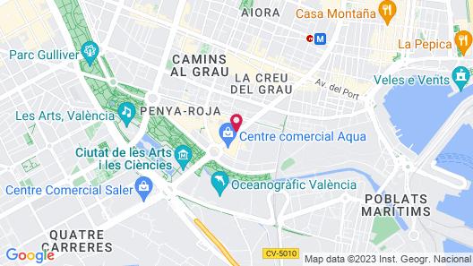 Hotel Primus Valencia Map